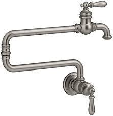 wall mount pot filler kitchen faucet kohler 99270 vs artifacts single wall mount pot filler