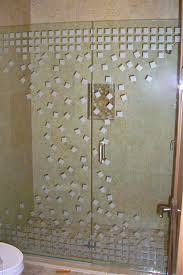 remarkable frosted glass shower doors built in tropical pattern