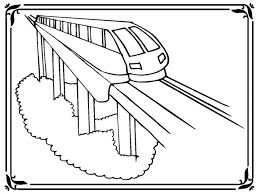 train coloring pages kids 37440