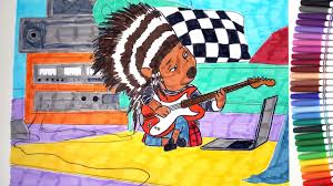 sing movie ash the porcupine plays the guitar coloring pages