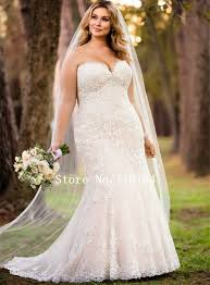2017 new off white plus size wedding dress country western bridal
