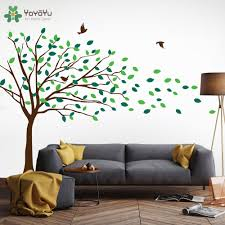 compare prices on vinyl tree wall decals online shopping buy low kids nursery wall decal tree pattern vinyl wall stickers for kids rooms blowing tree art mural