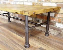 Pipe Coffee Table by Industrial Iron Pipe Coffee Table W Glass Top And Reclaimed