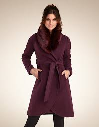 faux fur collar coat in plum by pepperberry part 2 fashion and