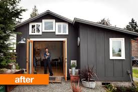 Building A Garage Apartment by Before U0026amp After Gorgeous Garage Mini House In Seattle