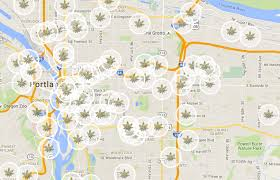 Portland City Maps by Portland Dispensary Map Willamette Week