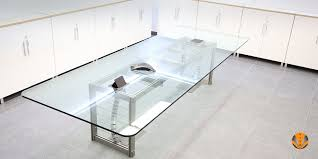 Glass Top Conference Table Stainless Steel Conference Table Glass Top 3 Viva Railings