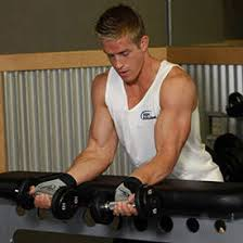 Bench Exercises With Dumbbells Palms Up Dumbbell Wrist Curl Over A Bench Exercise Videos