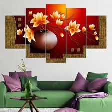 2017 canvas oil painting flower vase picture hd print wall