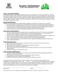 Personal Skills In Resume Examples Surgical Tech Resume Examples Resume For Your Job Application