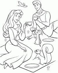 printable disney princess sleeping beauty aurora coloring pages