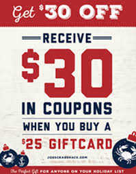coupons for joe s crab shack gift card deals restaurants stores spas coupons 4 utah
