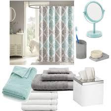 Gray Bathroom Sets - bathroom seafoam green white gray polyvore