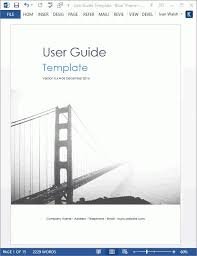 microsoft word user manual user manual template microsoft word