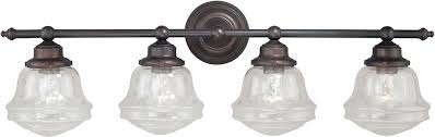 Venetian Bronze Bathroom Light Fixtures Vaxcel W0191 Huntley Rubbed Bronze 4 Light Bathroom Light