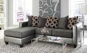 3003 sectional sofa in pewter bi cast u0026 gray microfiber