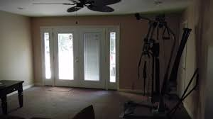 before and after photos of garage remodel to living space
