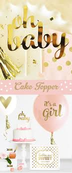 baby shower cake toppers girl oh baby cake topper gold baby shower cake topper pink and