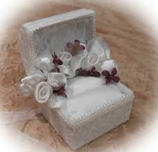 Wedding Ring Box by Elegant Hand Made Lace Wedding And Engagment Ring Boxes