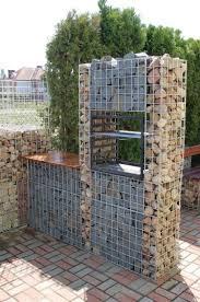 amenagement jardin moderne mur gabion dans le jardin moderne un joli élément fonctionnel