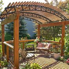 Backyard Shade Structures Free Standing Pressure Treated Wood Pergola Archadeck Outdoor Living