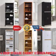 kitchen storage cabinets with doors and shelves storage cabinet kitchen pantry cupboard organizer furniture 4 doors shelves