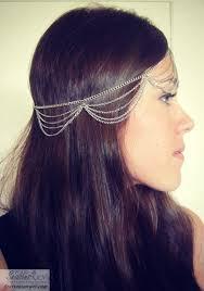 chain headpiece silver chain headpiece headdress