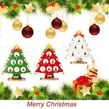 2018 decorative christmas tree santa claus snowman wooden swing