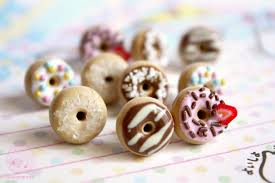 polymer clay stud earrings donut studs earrings polymer clay miniatures by kukishop on deviantart