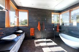 Dark Grey Bathroom Ideas Colors 25 Bathrooms That Beat The Winter Blues With A Splash Of Color