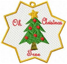 see individual embroidery designs from the set fsl christmas ornaments