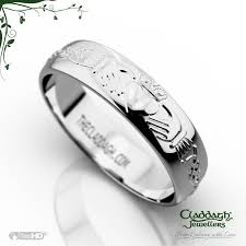 wedding ring white gold domed celtic wedding ring