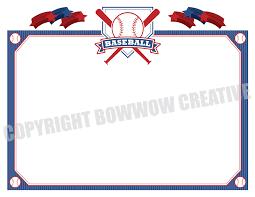 baseball certificate softball tee ball award border