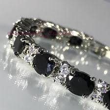 black onyx silver bracelet images Black onyx bracelet ebay jpg
