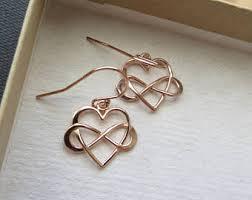 infinity earrings infinity earring etsy