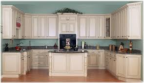 kitchen glamorous white painted glazed kitchen cabinets