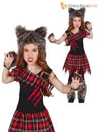halloween costumes werewolf girls scottish wolf costume childs werewolf halloween fancy dress