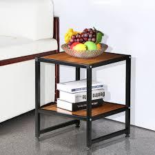 Side Table With Shelves B U0026w U Storage Side Table Multiple Colors Walmart Com