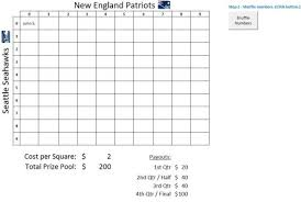 Football Squares Template Excel Bowl Squares Spreadsheet 2015 Excel For