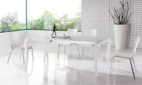 White Dining Room Sets Extremely Contemporary White Lacquered Dining Table With Heavy