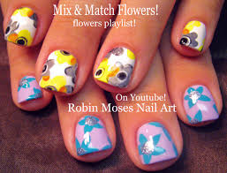 robin moses nail art bi polar girls nails watercolor flower nail