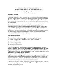 resume sample esthetician resume