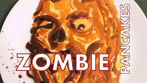 how to make zombie pancake art youtube