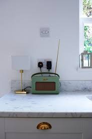 best 25 roberts radio ideas on pinterest radios record player green roberts radio in on cararra countertops in kitchen of gold perrins rowe faucet in butler sink cararra marble countertop in kitchen of isabel and