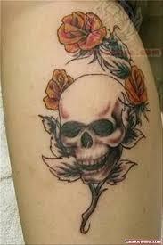 Skull Viewer Skull And Rose Tattoo On Arm Tattoo Viewer Com