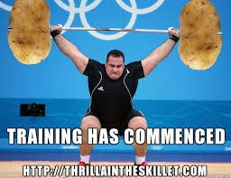 Training Meme - latke training has commenced thrilla in the skillet