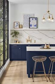 navy blue kitchen cabinets with brass hardware best kitchen cabinet colors for your kitchen reno