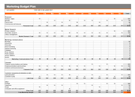 Budget On Excel Spreadsheet by Marketing Budget Plan Template Excel Templates Excel