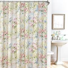 Cotton Shower Curtains Buy Giverny Floral Plisse Fabric Shower Curtain Liner And Hook