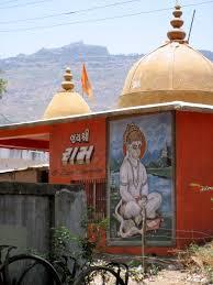 file hanuman sitting in lotus mural on gujarati vermilion red file hanuman sitting in lotus mural on gujarati vermilion red orange village hindu mandir